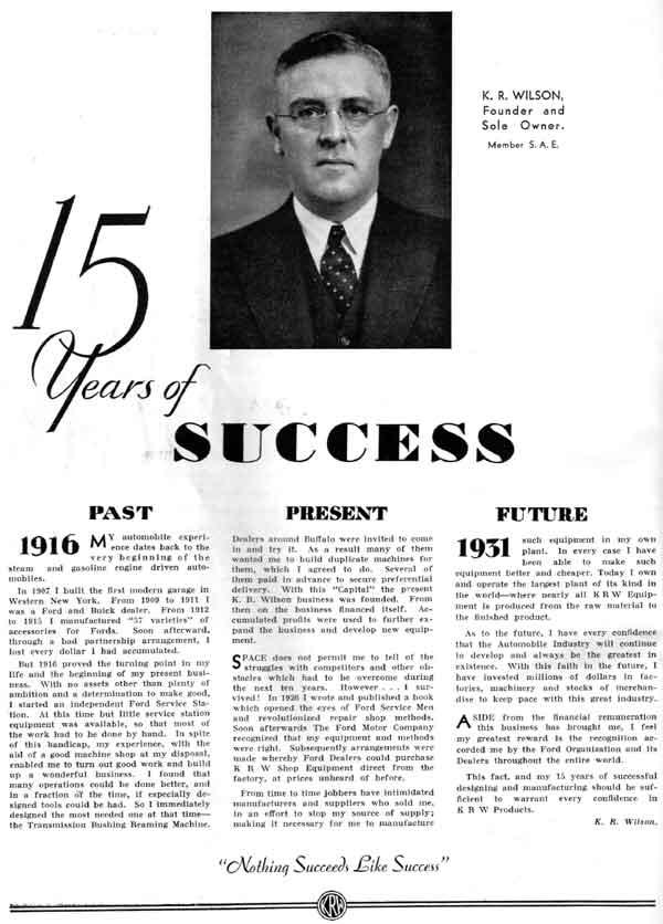 1931 K.R Wilson Ford Dealer/'s Service Tools /& Garage Equipment Catalog